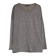 Buy Violeta by Mango Contrast Wool Blend T-Shirt Online at johnlewis.com