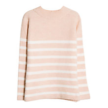 Buy Mango Striped Knitted Sweater, Medium  Pink Online at johnlewis.com