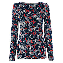 Buy Oasis Shadow Butterfly Crew Top, Multi/Blue Online at johnlewis.com