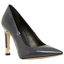 Buy Dune Arley High Shine Leather Stiletto Court Shoes, Red Online at johnlewis.com