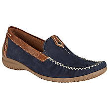 Buy Gabor California Wide-Fit Casual Nubuck Loafers, Navy/ Copper Online at johnlewis.com