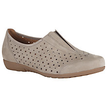 Buy Gabor Amaze Nubuck Shoes, Beige Online at johnlewis.com