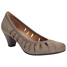 Buy Gabor Roxette Nubuck Cut-out Detail Court Shoes Online at johnlewis.com