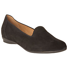 Buy Gabor Banjo Suede Shoes, Black Online at johnlewis.com