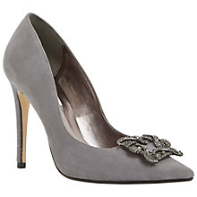 Buy Dune Breanna Jewelled Brooch Suede Court Shoes Online at johnlewis.com
