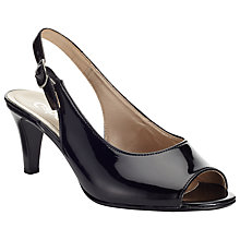 Buy Gabor Rumble Patent Leather Sling-Back Sandals Online at johnlewis.com