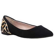 Buy Dune Hymm Pointed Pumps, Black Suede Online at johnlewis.com