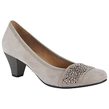 Buy Gabor Wallace Embellished Court Heels, Grey Online at johnlewis.com