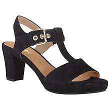 Buy Gabor Clover Wide Fit Suede Sandals, Black Online at johnlewis.com