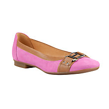Buy Gabor Montana Leather and Suede Slip-on Shoes Online at johnlewis.com