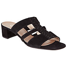 Buy Gabor Gibside Suede Sandals, Black Online at johnlewis.com