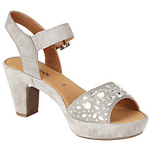 Buy Gabor Abe Suede Sandals, Grey Online at johnlewis.com