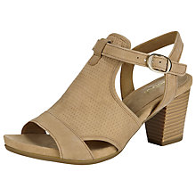 Buy Gabor Luck Nubuck Sandals, Tan Online at johnlewis.com