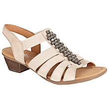 Buy Gabor Tangier Suede Wedges, Beige Online at johnlewis.com