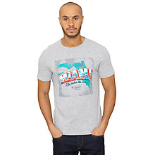Buy Original Penguin Tourist Graphic Print T-Shirt, Rain Heather Online at johnlewis.com