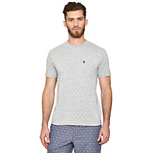 Buy Original Penguin All Over Print Foulard T-Shirt, Rain Heather Online at johnlewis.com