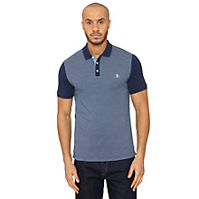 Buy Original Penguin Dwarm Jacquard Polo Shirt, Dress Blue Online at johnlewis.com