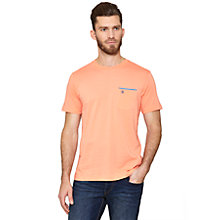 Buy Original Penguin Oxford Nimble Pocket T-Shirt, Coral Online at johnlewis.com