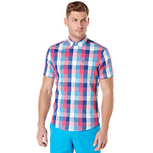 Buy Original Penguin Gingham Short Sleeve Shirt, Classic Blue Online at johnlewis.com