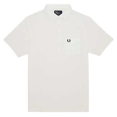 Fred Perry Cotton Polo Shirt Snow White