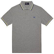 Buy Fred Perry Twin Tipped Polo Shirt, Grey Marl Online at johnlewis.com