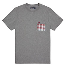 Buy Fred Perry Check Pocket Crew Neck T-Shirt Online at johnlewis.com
