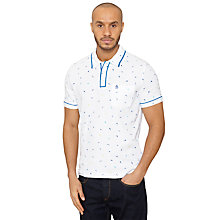 Buy Original Penguin Luna Miami Polo Shirt, Bright White Online at johnlewis.com