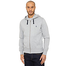 Buy Original Penguin Secret Sam Zip-Up Hoodie, Rain Heather Online at johnlewis.com