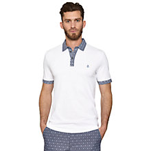 Buy Original Penguin Exclusive Printed Trim Polo Shirt Online at johnlewis.com