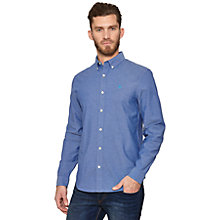 Buy Original Penguin Straight Up Oxford Shirt, Royal Blue Online at johnlewis.com
