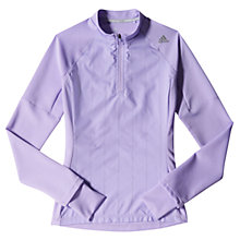Buy Adidas Supernova Storm 1/2 Zip Long Sleeve T-Shirt, Glow Purple Online at johnlewis.com