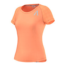 Buy Adidas Aktiv Running Tri-Stripe T-Shirt, Orange Online at johnlewis.com