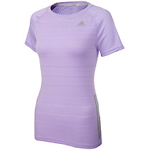 Buy Adidas Supernova Running T-Shirt, Lilac Online at johnlewis.com