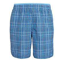 Buy Adidas Check Swim Shorts, Blue Online at johnlewis.com