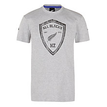 Buy Adidas New Zealand All Blacks Crest Graphic T-Shirt, Grey Online at johnlewis.com
