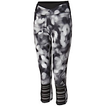 Buy Adidas Supernova Graphic Print 3/4 Running Tights, Black/White Online at johnlewis.com