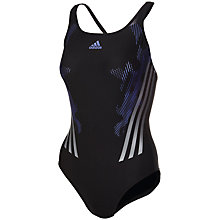 Buy Adidas Infinitex Tech Range Swimsuit, Black Online at johnlewis.com