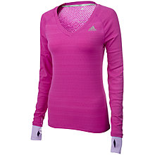 Buy Adidas Long Sleeve Supernova Top, Pink Online at johnlewis.com