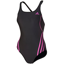 Buy Adidas Sports Swimsuit, Black/Pink Online at johnlewis.com