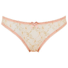 Buy L'Agent by Agent Provocateur Monica Mini Briefs, Fawn / Gold Online at johnlewis.com