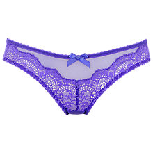 Buy L'Agent by Agent Provocateur Vanesa Mini Briefs, Violet Online at johnlewis.com