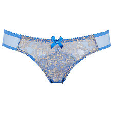 Buy L'Agent by Agent Provocateur Iana Mini Briefs, Blue / Gold Online at johnlewis.com