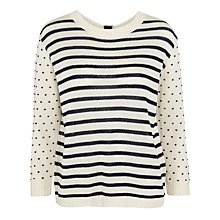 Buy Weekend by MaxMara Amadeus Dot Cotton Jumper, White Online at johnlewis.com