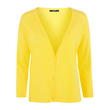 Buy Weekend by MaxMara V-neck Cardigan, Yellow Online at johnlewis.com