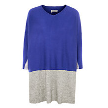 Buy Toast Akita Cashmere Blend Jumper, Cobalt / Grey Melange Online at johnlewis.com