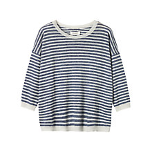 Buy Toast Akita Sweater, Indigo/Parchment Online at johnlewis.com