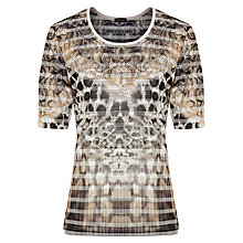 Buy Gerry Weber Burnout Placement T-shirt, Multi Online at johnlewis.com