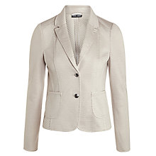 Buy Gerry Weber Waffle Jersey Blazer, Sand Online at johnlewis.com
