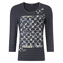 Buy Gerry Weber Stud and Placement Print T-Shirt, Indigo Online at johnlewis.com