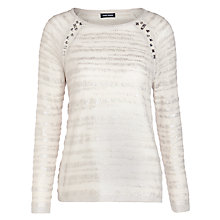 Buy Gerry Weber Foil & Gem Jumper, Cream Online at johnlewis.com